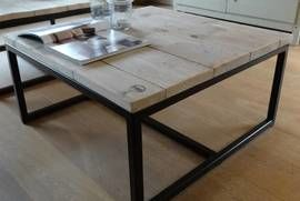 Pure wood design varberg industriele salontafel st